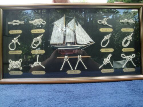 Nantucket Nautical Knot Display In Shadow Box Form