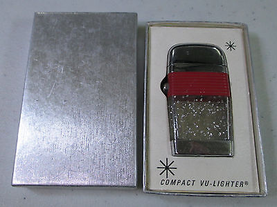 Vintage Red Band Scripto Compact Vu-Lighter in Box