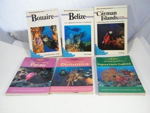 (6) DIVING  & SNORKELING GUIDES BONAIRE, BELIZE, CAYMAN, PALAU, DOMINICA, GUINEA