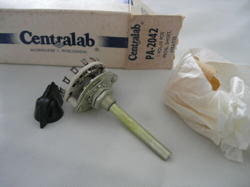 CENTRALAB PA-2042 STEATITE ROTARY SWITCH - SHORTING - 1 POLE - 10 POSITION - NOS