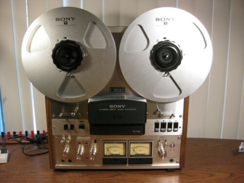 Sony TC-755 Reel to Reel Deck Excellent Condition Working Unit w/ Nab Hubs