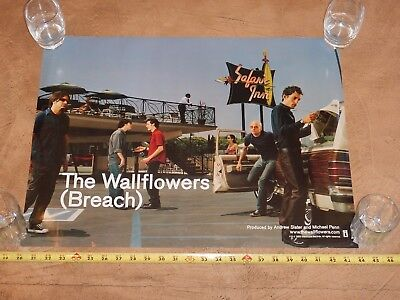 ORIGINAL 2000 THE WALLFLOWERS BREACH PROMO POSTER