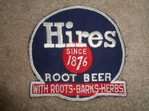 HIRES ROOT BEER PATCH - VINTAGE - LARGE- ORIGINAL SODA GREAT CONDITION! 6 3/4 X6