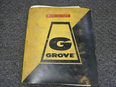 Grove Model Rt518 Rough Terrain Crane Parts Catalog Manual Book