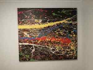 LARGE ABSTRACT OIL PAINTING Pullenvale Brisbane North West Preview