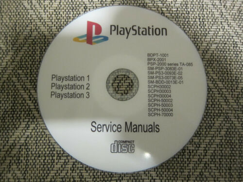 Repair Service manuals Schematics for Sony Playstation on cd in pdf format