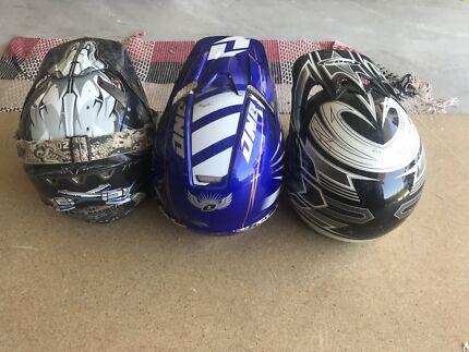 Moto x helmets 3 for $220