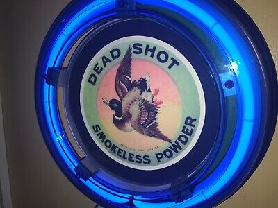 ^Dead Shot Duck Hunting Shotgun Shells Bar Man Cave Advertising Neon Sign