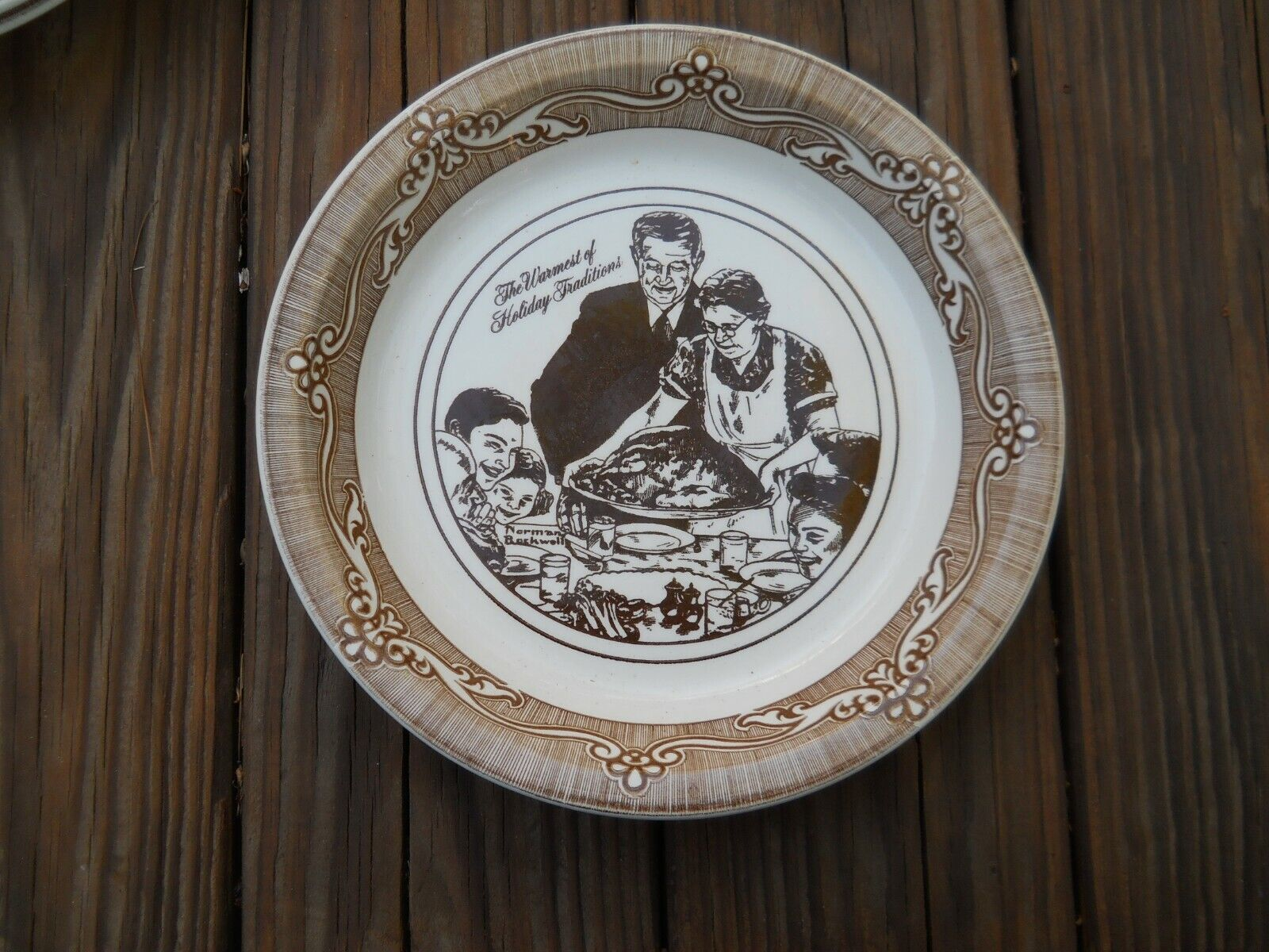 10 FREEDOM FROM WANT PIE PLATE NORMAN ROCKWELL - $4.99