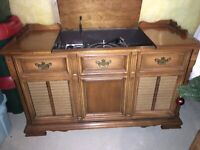 Vintage Maple Stereo Cabinet