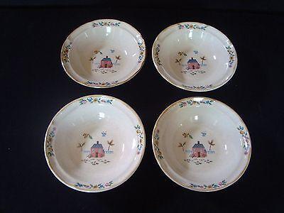 Set of 4 International Stoneware Heartland Farmhouse Cereal Bowls SY 7774 Japan