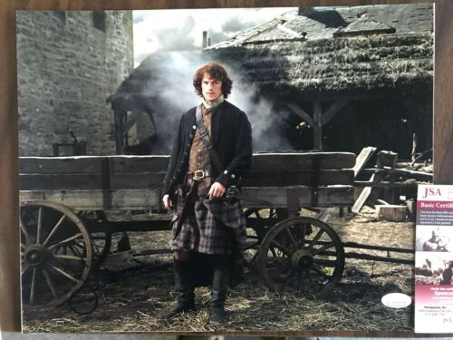 Sam Heughan Outlander Autographed Signed 11x14 Photo JSA COA