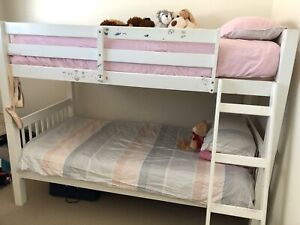 Single bunk beds - white