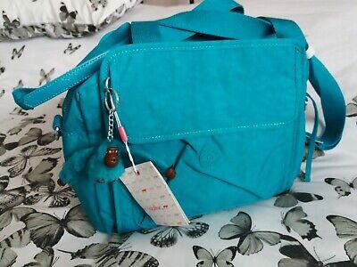 New Kipling Messenger/Crossbody Very large Bag Paradise Green/Aqua with Tags