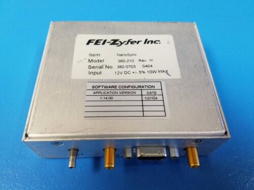 FEI-Zyfer NanoSync® Model 380 GPS Time and Frequency Systems