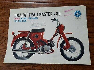 Vintage Yamaha Sales Brochure Advertisment for Omaha Trailmaster MG 1-T 80cc