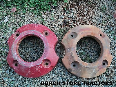 Pair Of Back Rear Wheel Weights For Farmall 140 130 Super A 100 A B Tractors