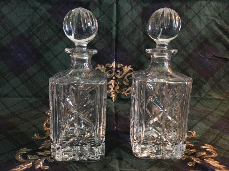 Crystal Decanters 2pcs