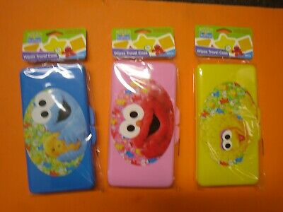 New Sesame Street Baby Big Bird Monster Baby Wipes Travel Yellow Blue or Pink - Big Pink Bird