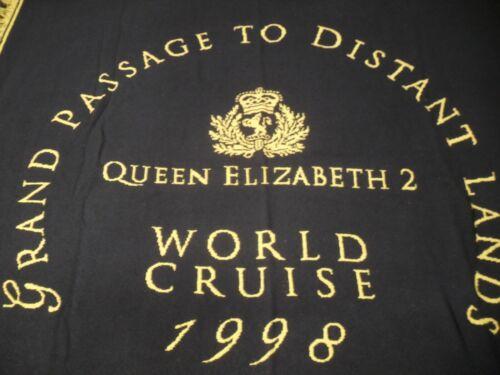 Queen Elizabeth 2 World Cruise 1998 Throw - Beautiful Over-Run Salesman Sample