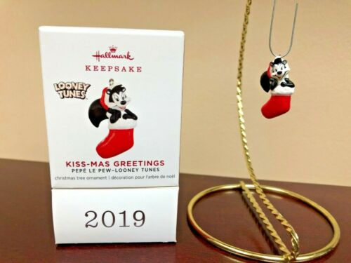 2019 Hallmark Miniature Ornament Kiss-Mas Greetings