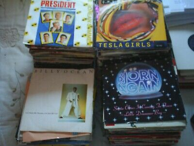 """Job lot  15 -7"""" vinyls  with sleeves  (choose 15 from list in desc.)- more added"""
