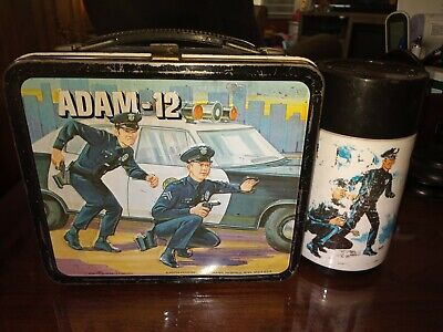 1973 Adam 12 Lunchbox And Thermos By Aladdin 🔥 🔥