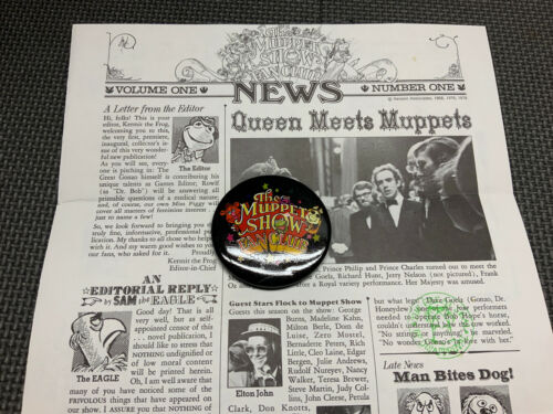 1978 The Muppet Show Fan Club News Volume 1 With Fan Club Button - $25.00