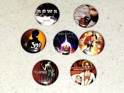 7 Prince Buttons Button 1 inch Pin Pins Badge Mini Album LP Vinyl Replica LOT E