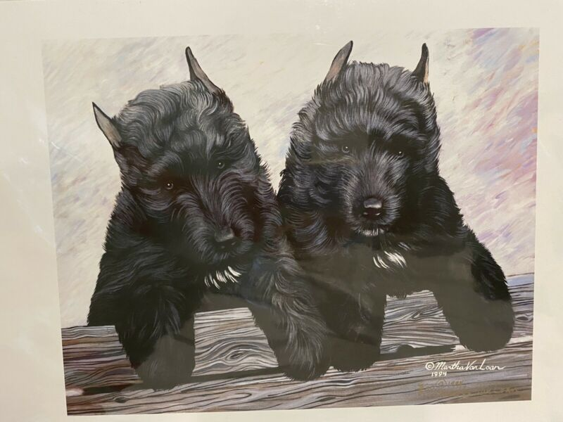Bouvier Des Flandres Puppies Ltd Ed Print 11x14 Signed By Van Loan