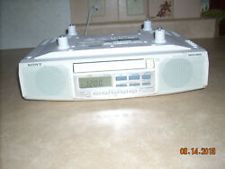 Sony Model ICF-CD513 Mega Bass FM/AM CD Clock Radio Under Cabinet, Hardware