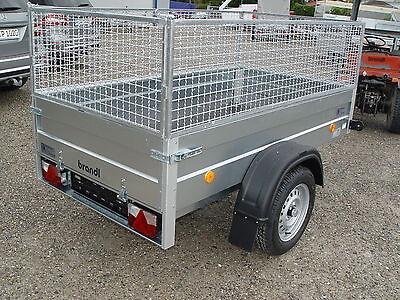Pkw Anhänger stabil 750kg Ladefläche 2,06x1,1m Gitteraufsatz Hausmeisterservice
