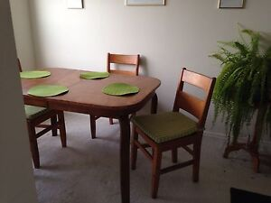 Dining table set- real wood!
