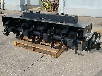 New Jct 72 Skid Steer Loader Roto Tiller Hydraulic Rotary Garden 6