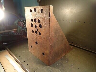 17-38 X 16 X 12 Cast Iron Right Angle Mill Milling Set-up Fixture Plate Used