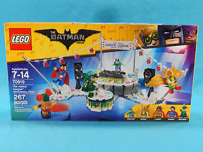Lego Batman Movie 70919 The Justice League Anniversary Party 267pcs New Sealed