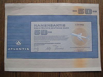 Fluglinie Luftverkersunternehmen ATLANTIS 50,-DM 1969