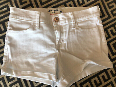 Abercrombie Kids White Shortie Shorts Size 9/10.  Not Sure Ever Worn