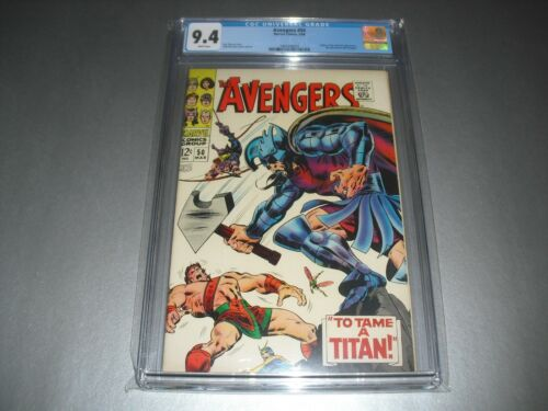 Avengers #50 CGC 9.4 WHITE pages from 1968! Marvel not CBCS A19