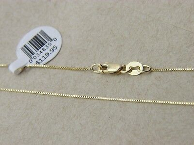 Pure 10K Solid Yellow Gold Box Necklace Real Gold Chain With Lobster Clasp (Box Chain Lobster Clasp)