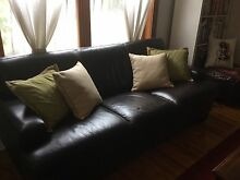 Leather lounge suite - package sale Alberton Port Adelaide Area Preview