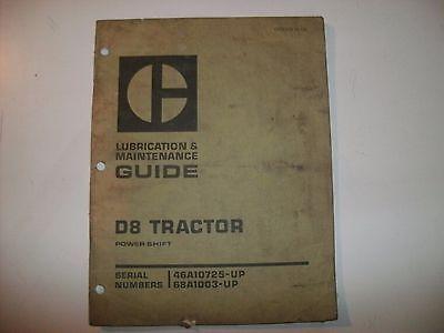 D8 Tractor Cat Caterpillar Lubrication Maintenance Guide Dozer Power Shift
