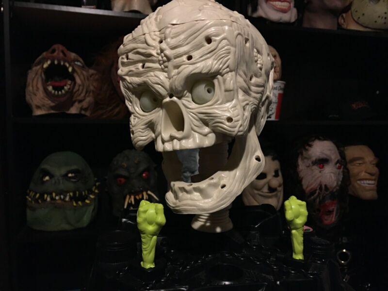 Rare Vintage 1992 Hasbro Monster Face Skull Head Halloween Mask Prop Bucket Head