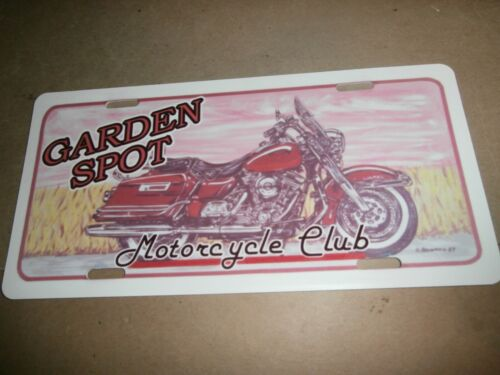 Vintage Garden Spot Motorcycle Club License Plate