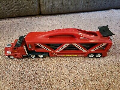 Hot Wheels 1998 Red Thunder Roller Vehicle Storage Truck - Lights & Sound