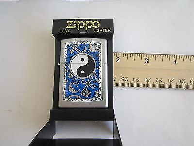 Rare ZIPPO Lighter:TAI CHI(太极),MOON, SUN(阴陽-阳),Brand New In Box,Free Ship In USA