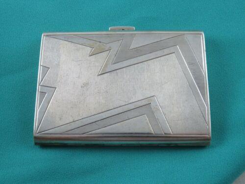 VINTAGE STERLING SILVER ART DECO CARD CASE, AUSTRIA, MARKED, 1930