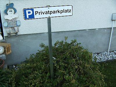 Parkplatz-Schild Privatparkplatz oder Wunschtext mit Erdstab ca. 1,00 mtr.
