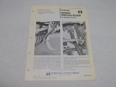 International 150 Shovel Drill Fertilizer Delivery Sales Reference Brochure