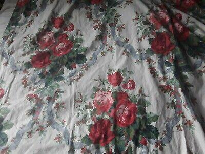 A Vintage Pr Handmade Lined Curtains The Rose Bouquet Coles Mortimer St London 3